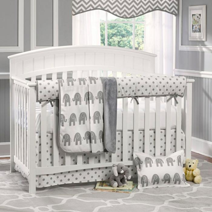 chambre bébé en gris