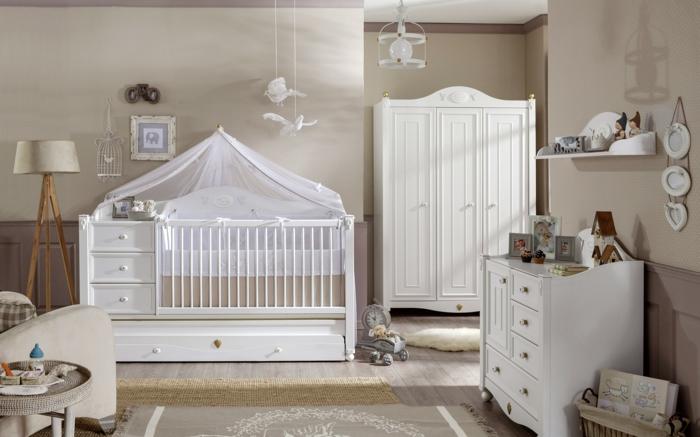 chambre bébé style vintage
