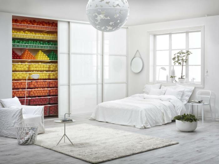 chambre scandinave déco colorée
