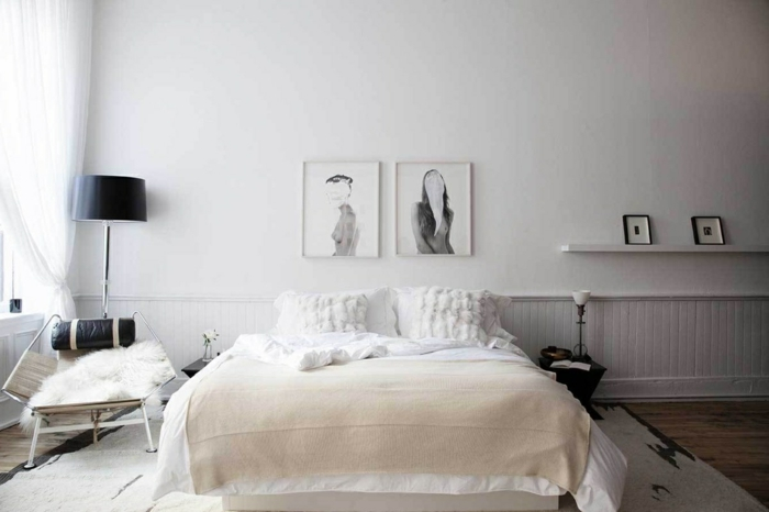 chambre scandinave en blanc