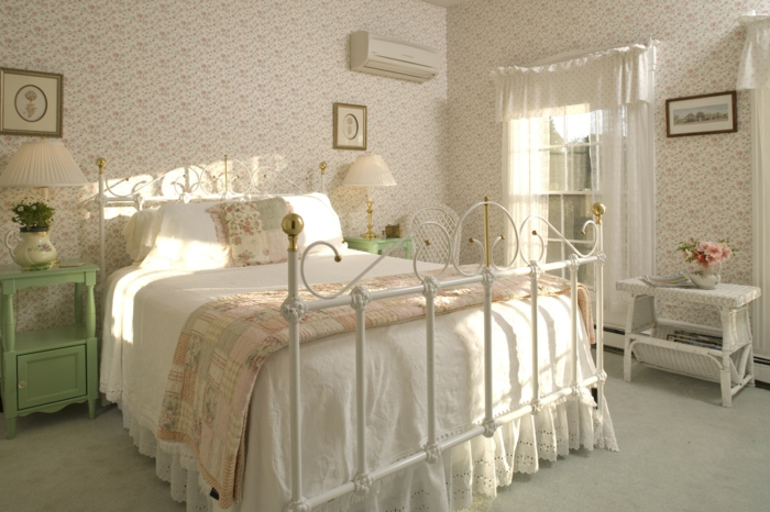 chambre style campagne chic