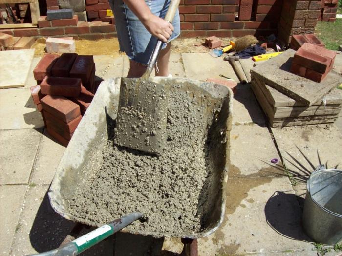 ciment et vermiculite
