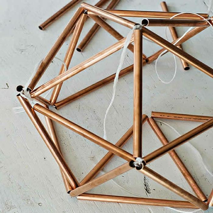 construction de polyèdre avec des tuyaux