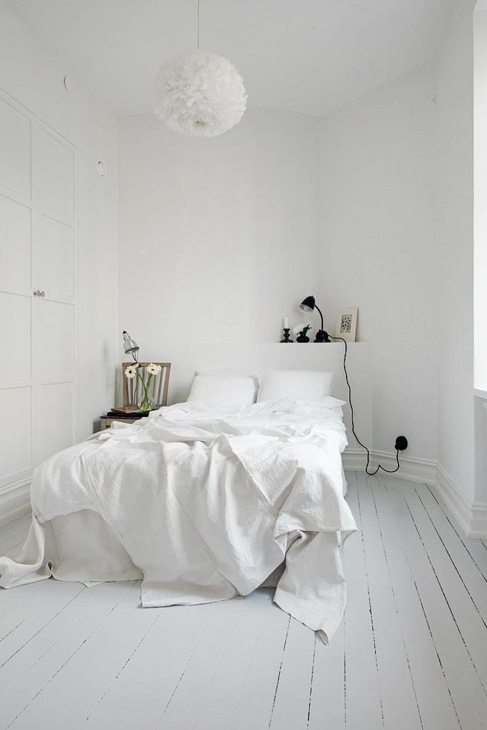 couleur pour agrandir une pièce blanc