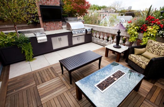 cuisine d'extérieur sur une terrasse
