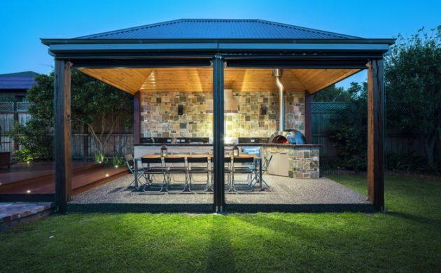 aménagement cuisine extérieure