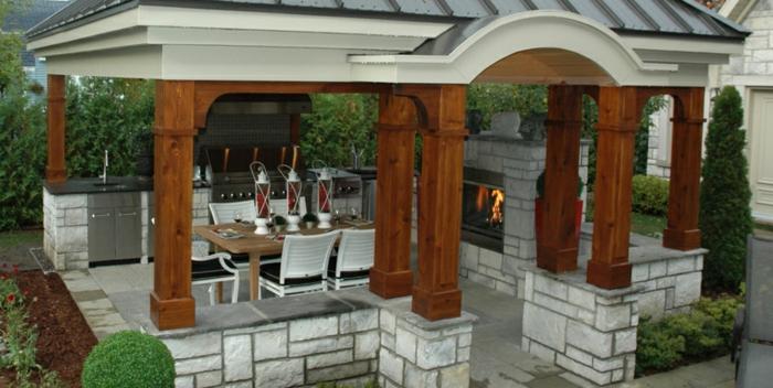 cuisine extérieure cheminée