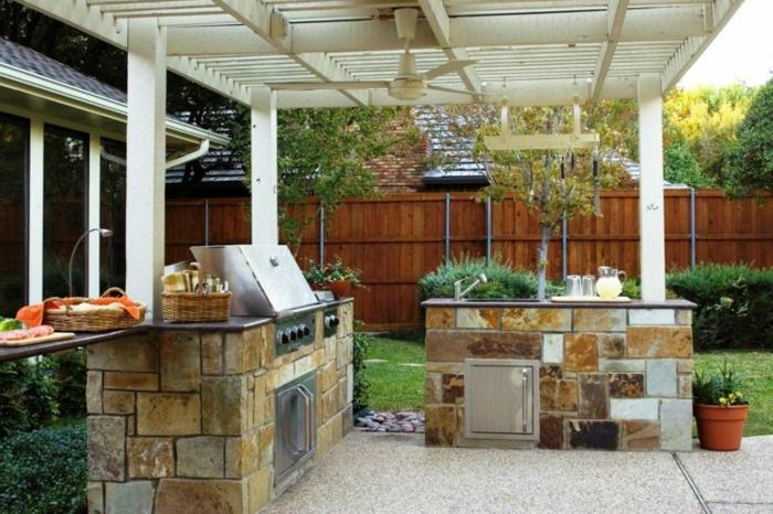cuisine extérieure pierres