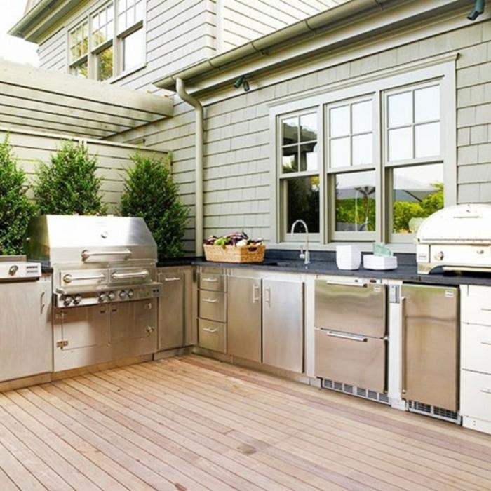 am nagement cuisine ext rieure id es et conseils. Black Bedroom Furniture Sets. Home Design Ideas