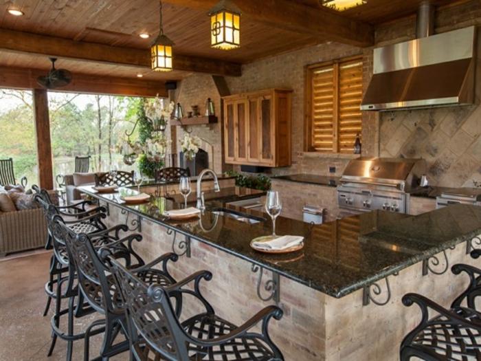 cuisine moderne ouverte vers le jardin