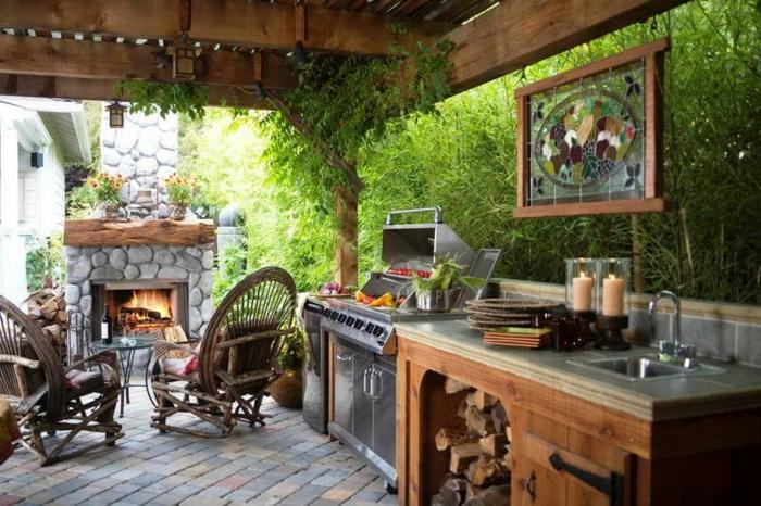 cuisine rustique extérieur