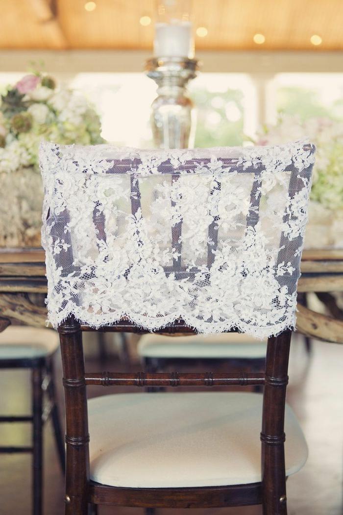déco chaises avec dentelle- décoration tendance