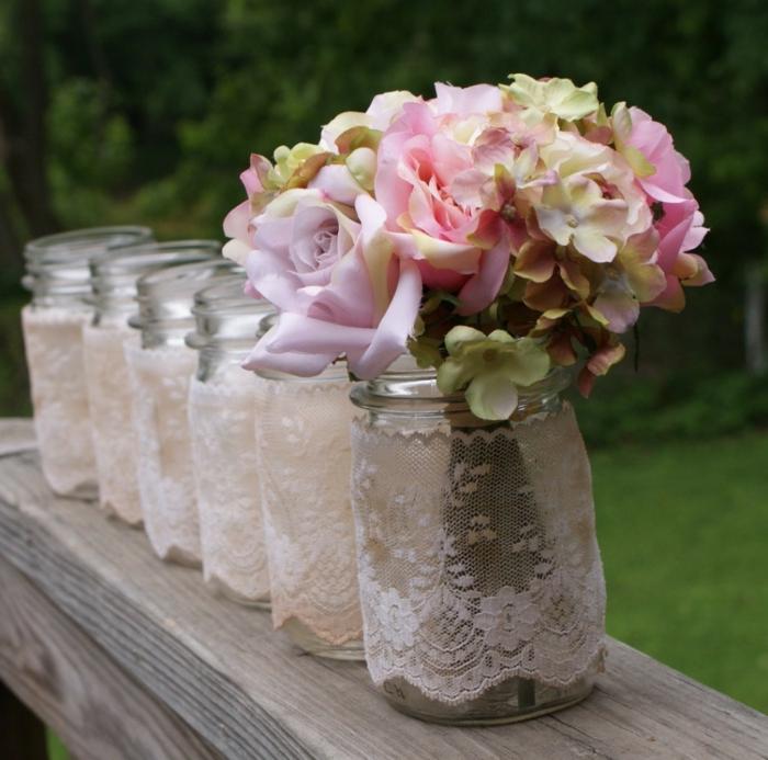 une décoration tendance pour le bouquet