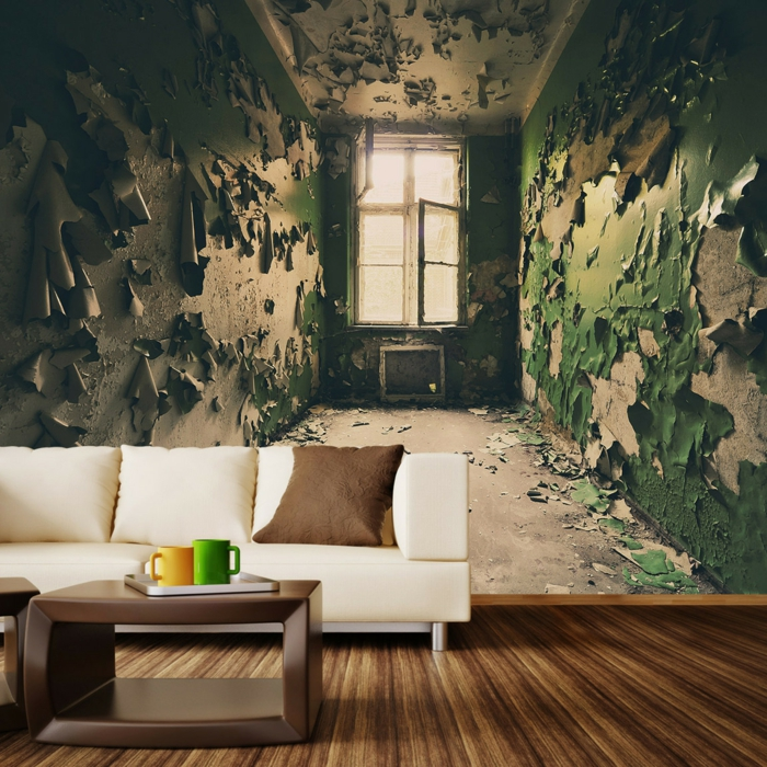Papier peint trompe l 39 oeil ou comment cr er l 39 effet d for Terengganu home wallpaper 2016
