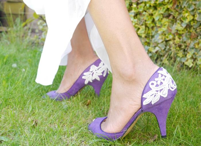 décoration tendance-chaussures avec dentelle