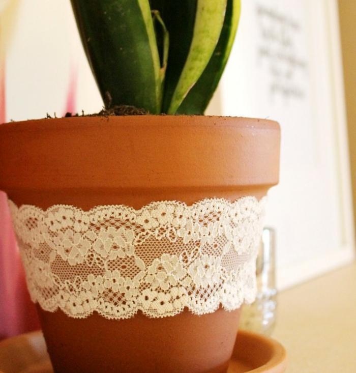 décoration tendance pour le pot de fleur