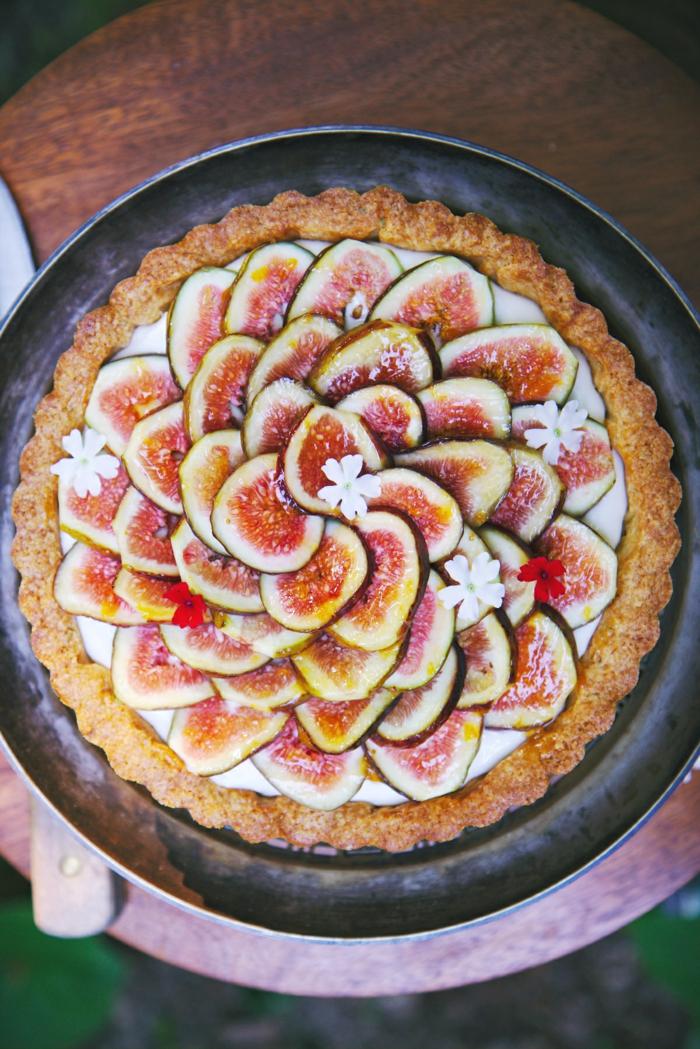 dessert avec confiture de figues