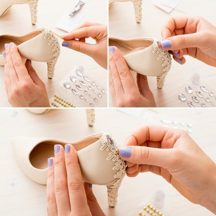 diy-décoration-tendance-dentelle-chaussures