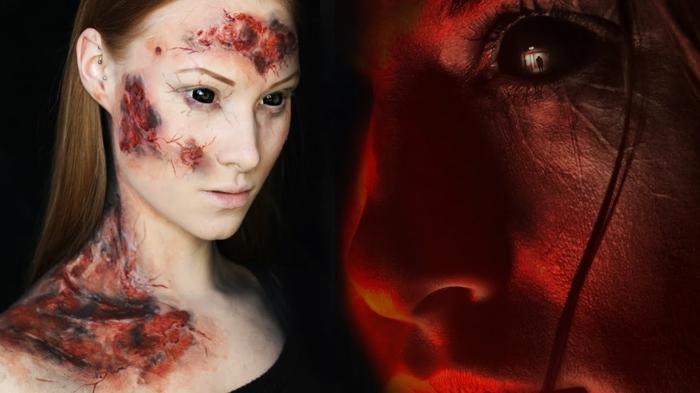 diy maquillage halloween femme