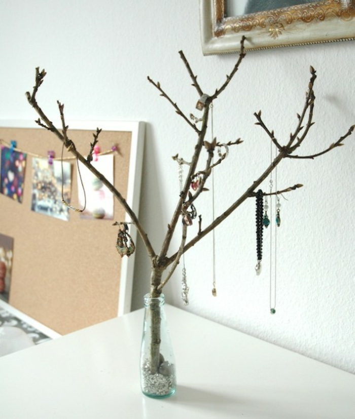 diy rangement bijoux forme arbre