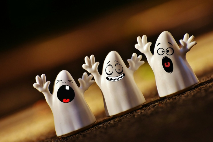 fantômes maquillage halloween femme