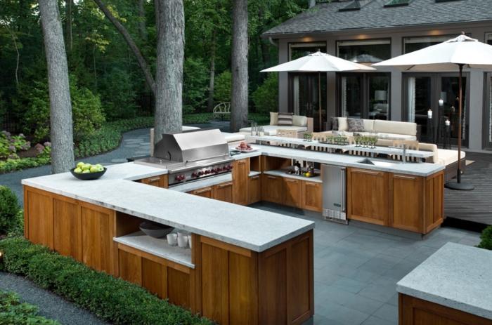 grande cuisine extérieure cour arrière