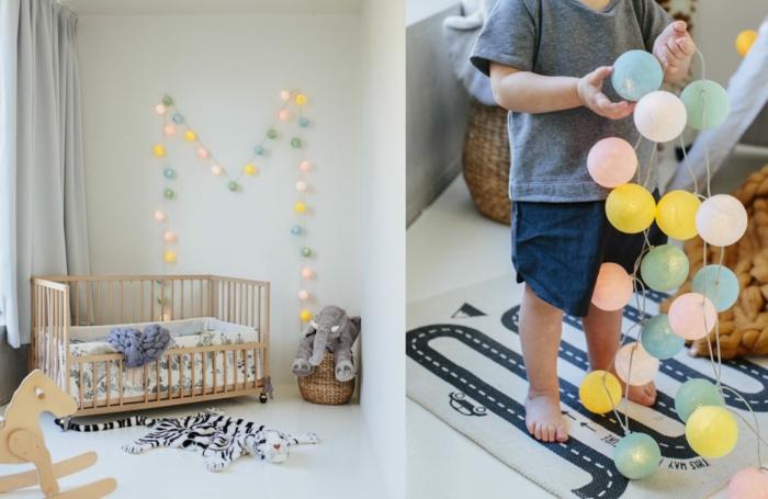 guirlande lumineuse pour la chambre enfant