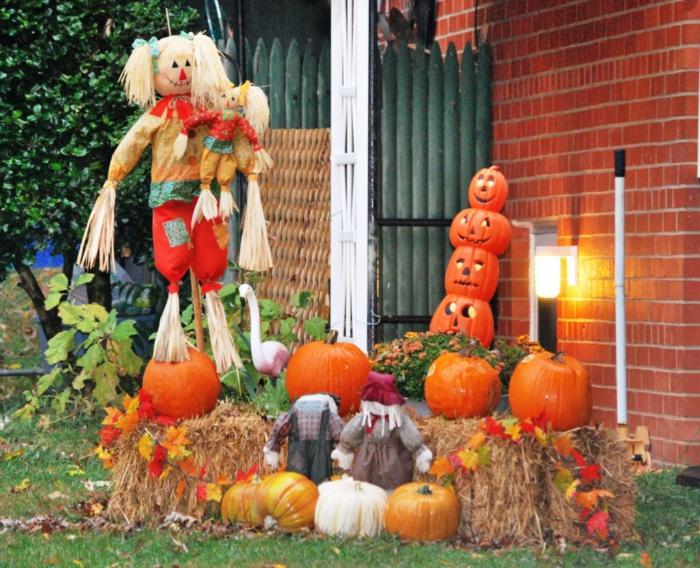 halloween déco bottes de foin