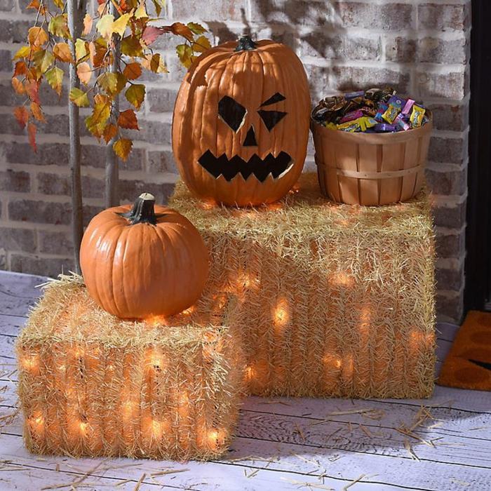 hallowen bottes de foin
