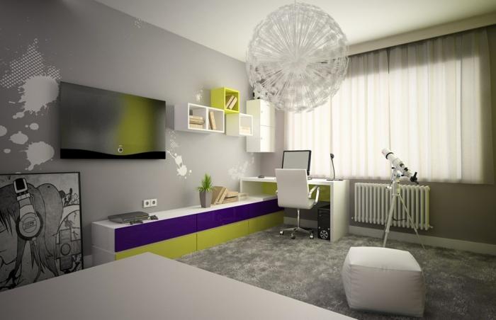 idée chambre ado fille design et moderne