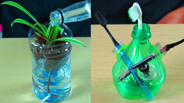 idée créative bouteille plastique