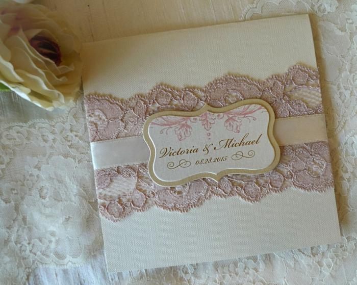 idée-invitation-pour-mariage-avec-dentelle-décoration-tendance