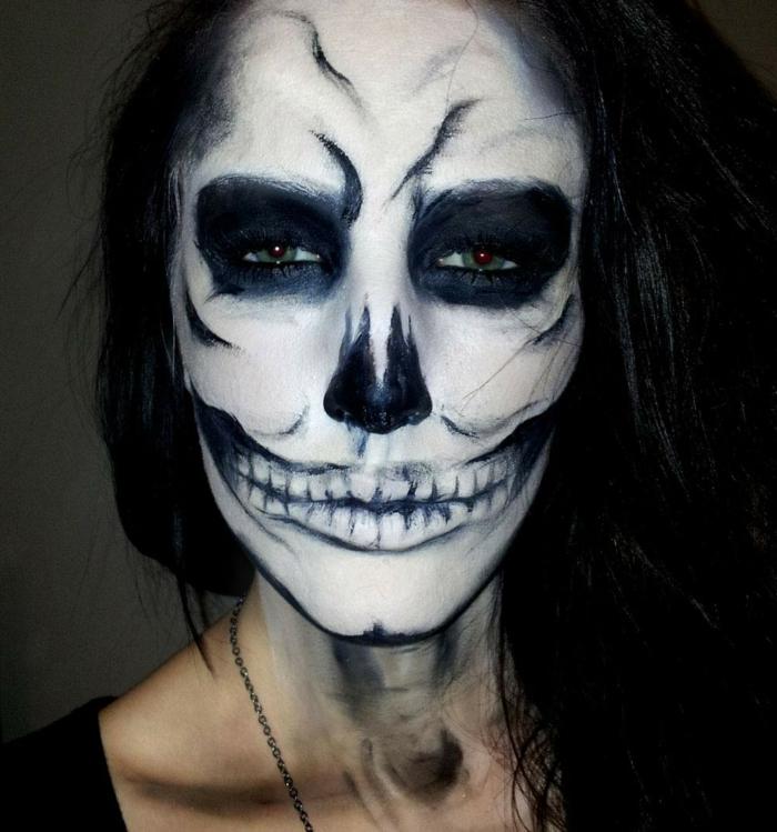 idée maquillage halloween femme