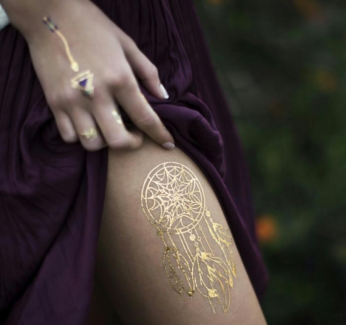 idée originale tatouage éphémère