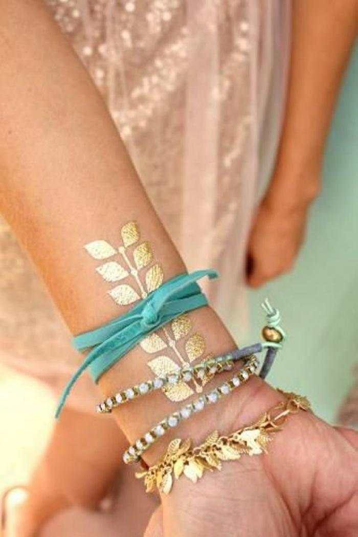 idées tatouage éphémère pour la main