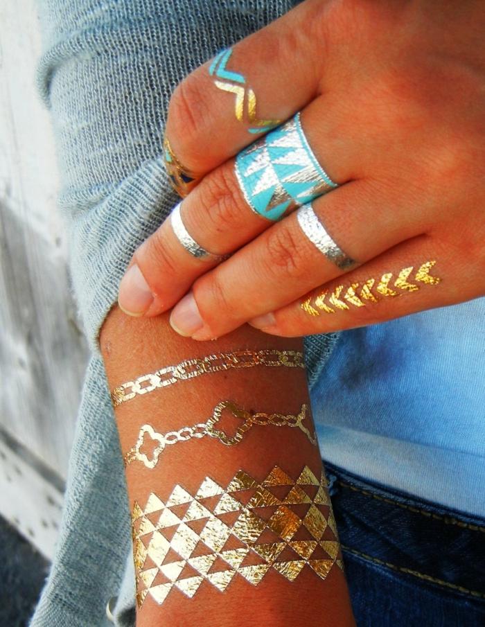 inspiration tatouage éphémère femme