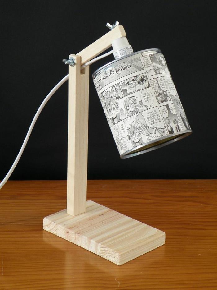 lampe boîte de conserve vide