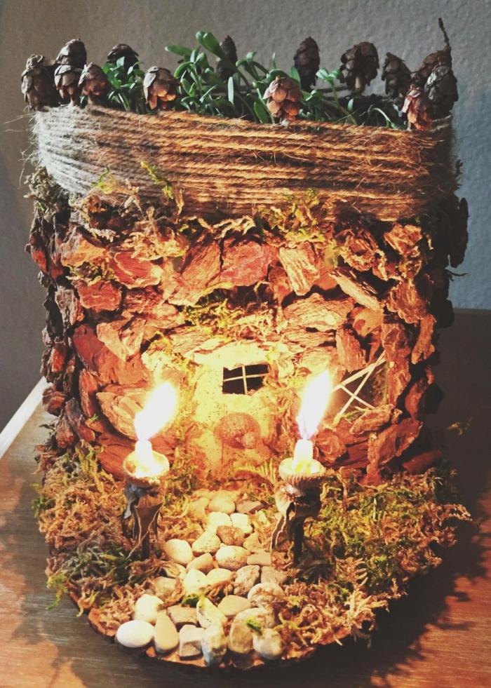 maison de fée avec bougies