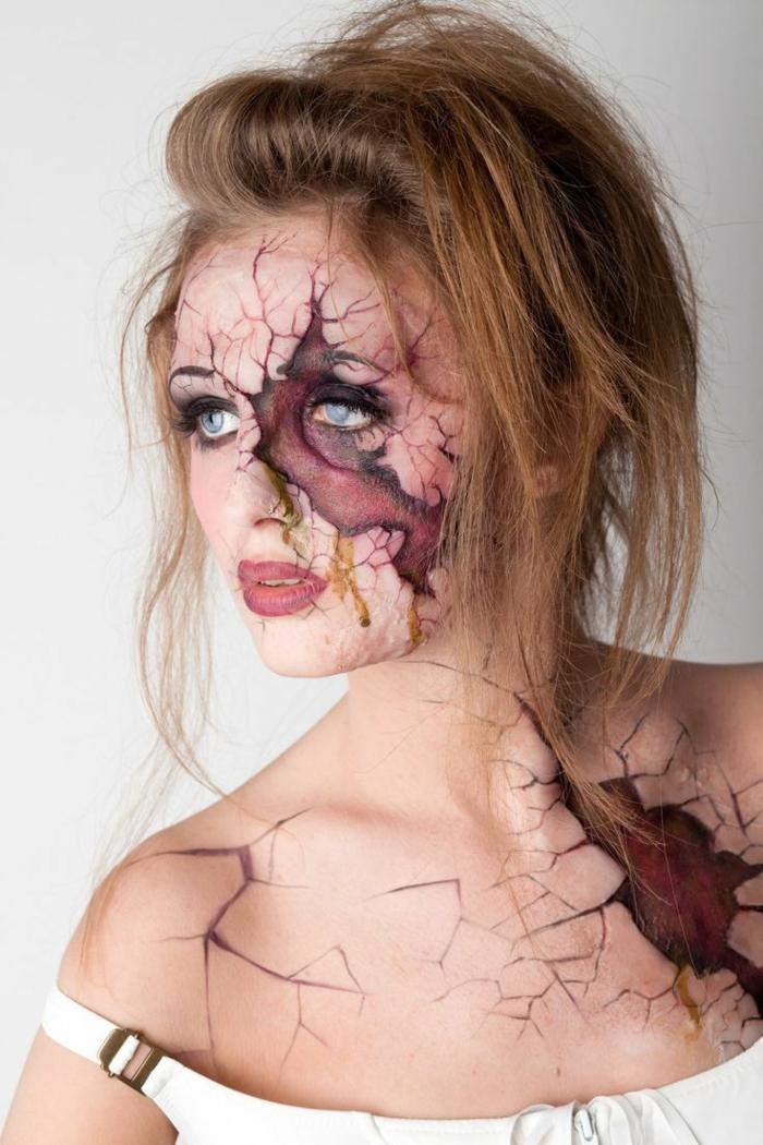 makeup spécial maquillage halloween femme