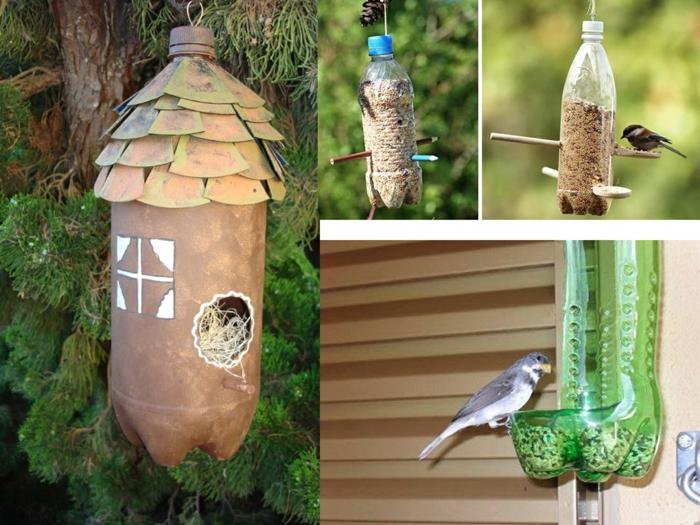 mangeoire oiseaux bouteille plastique
