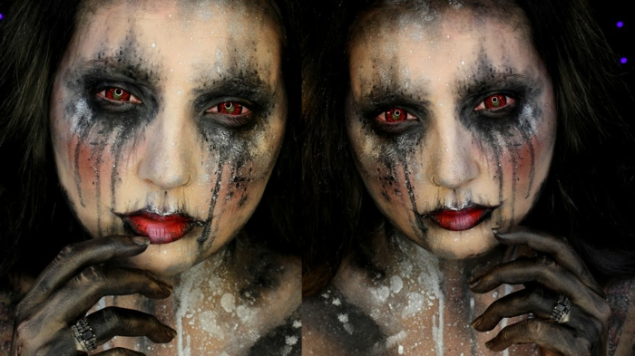 Maquillage zombie facile femme originales de maquillage halloween simple with maquillage zombie - Maquillage zombie femme facile ...