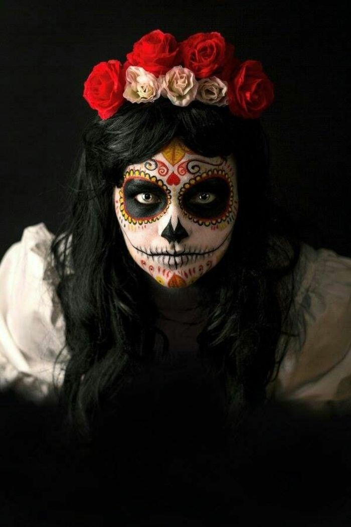 maquillage Halloween femme intéressant