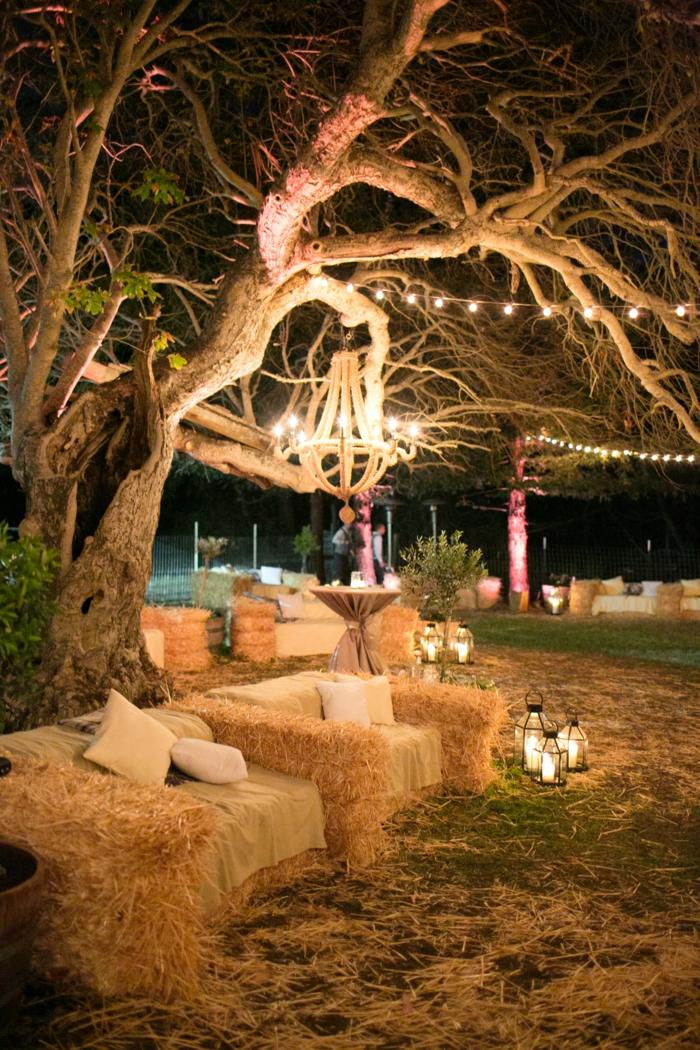 mariage éclairage guirlande lumineuse