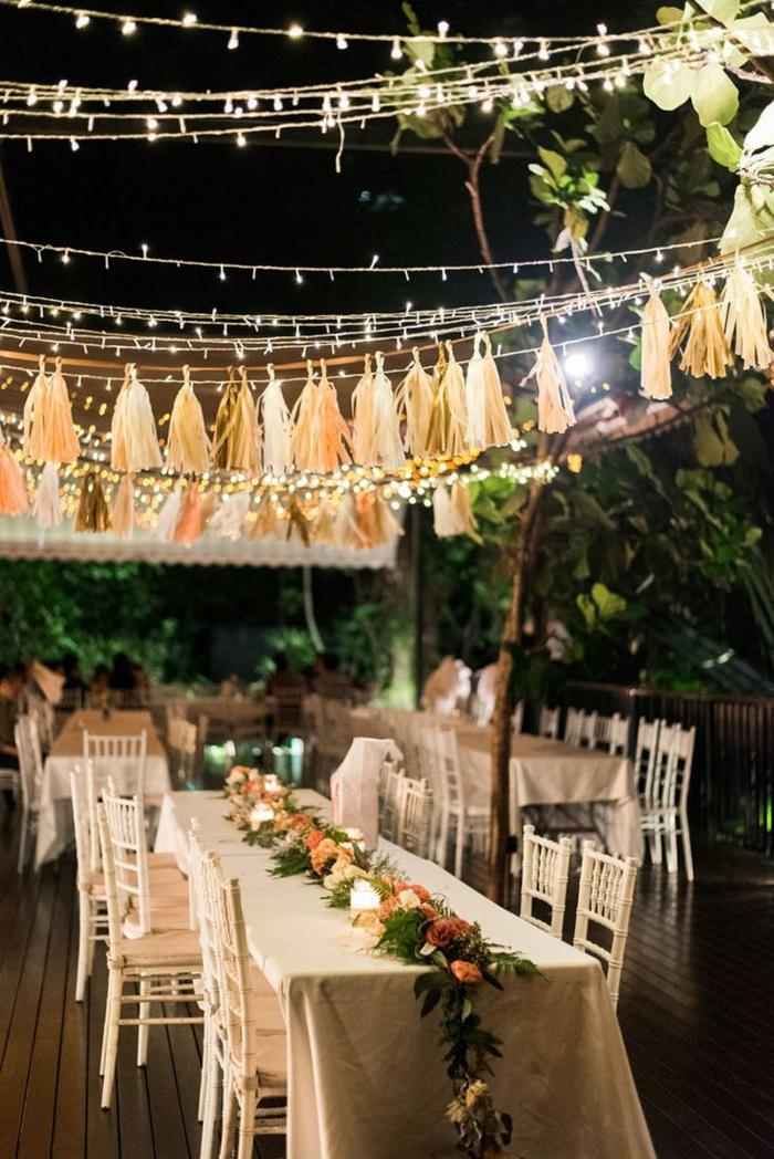mariage idées comment décorer guirlande lumineuse