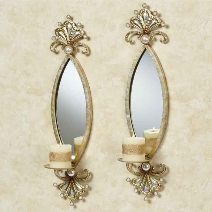 miroirs accent fleur de lys