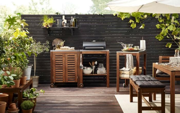 modèle de cuisine extérieure