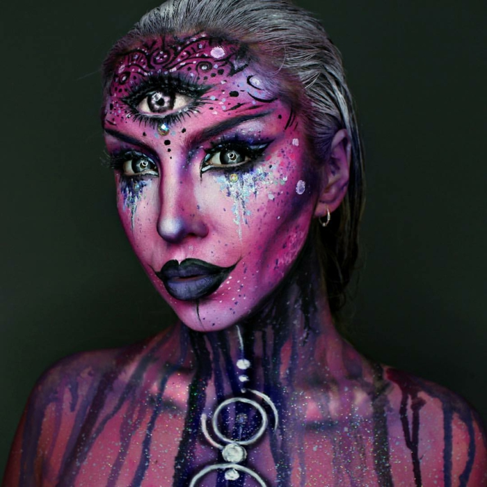 originale et unique maquillage halloween femme