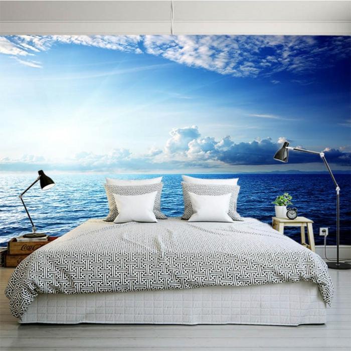 panoramique papier peint trompe l' oeil idées