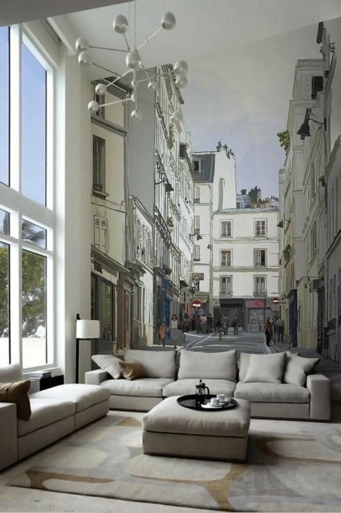 panoramique papier peint trompe l' oeil