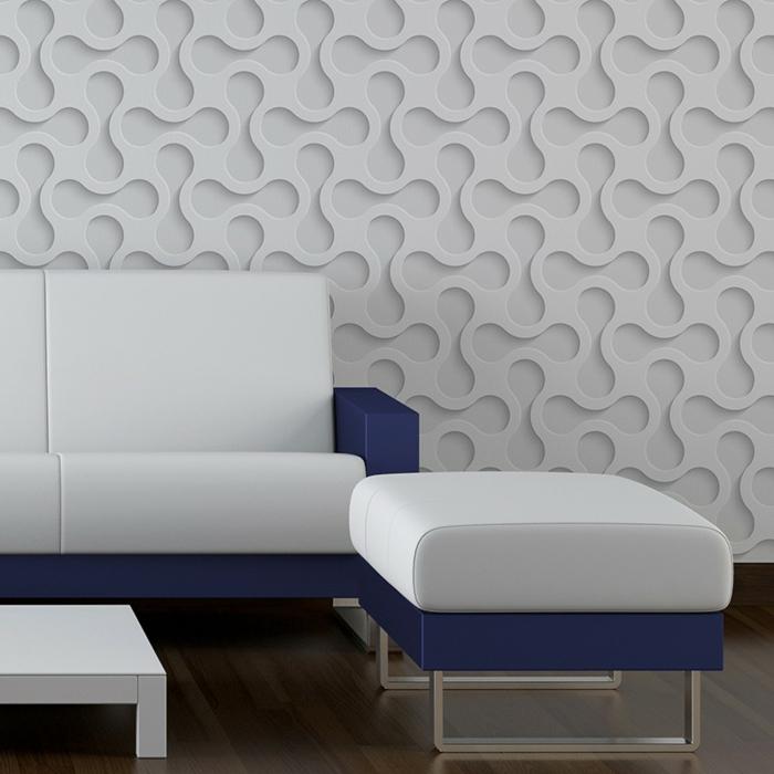 papier peint trompe l' oeil pour transformer le mur